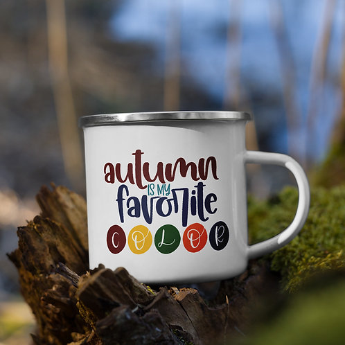 Autumn is My Favorite Color Fall Vol. 5 Enamel Camp Mug