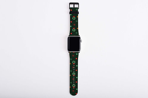 Gingerbread Train Wreaths Apple Watch Band