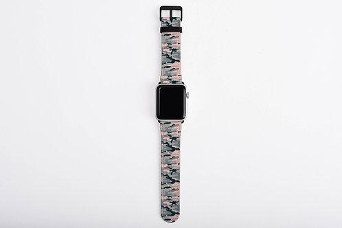 Camouflage Ori. Blush Designer Apple Watch Band