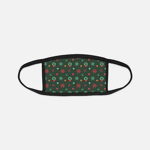 Gingerbread Train Wreaths Black Edge Face Cover