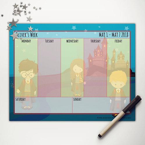 Wizard School Weekly Calendar (light skin)