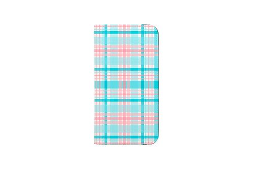 Gender Reveal Plaid Folio Wallet Case