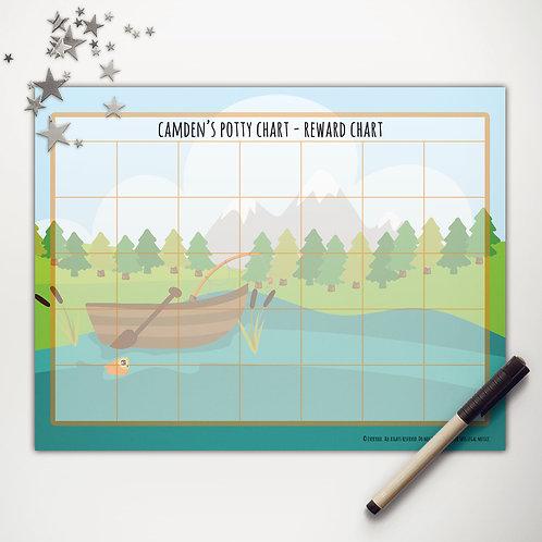 Goin' Fishin' Boat Basic Reward Chart