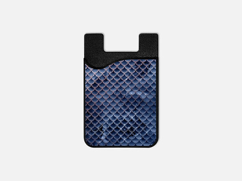 Blush + Navy Wrecked Mermaid Scales Card Holder