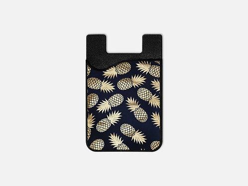 Navy + Gold Pineapples Card Holder