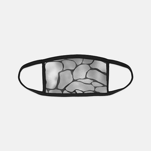 Luxury Safari Silver Croc Black Edge Face Cover