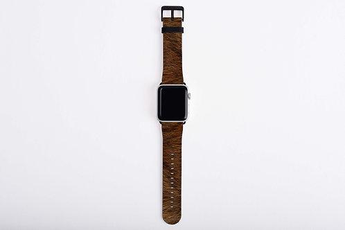 Brown Bear Skin Texture Print Apple Watch Band