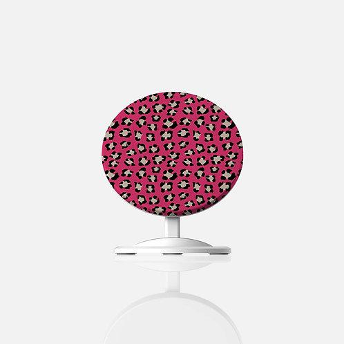 Valentine Dark Pink Leopard Print Wireless Charger