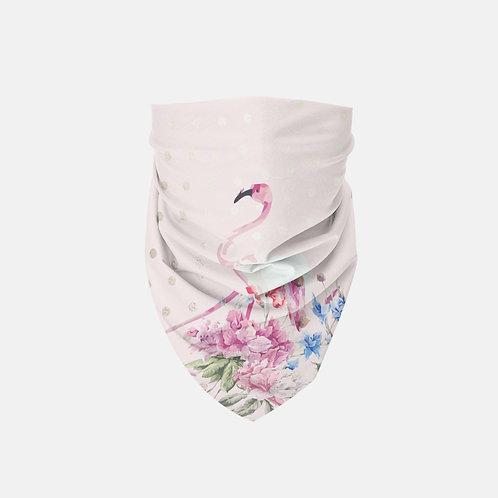 Blush + Gold Polk-a-Dots Flamingo Designer Bandana