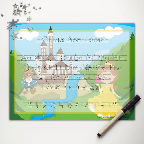 Princess Beauty Writing Mat (light skin | print)