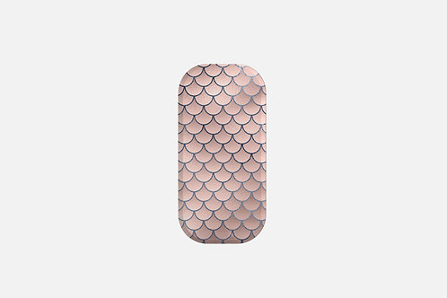 Blush + Navy Foiled Mermaid Scales Designer Clickit