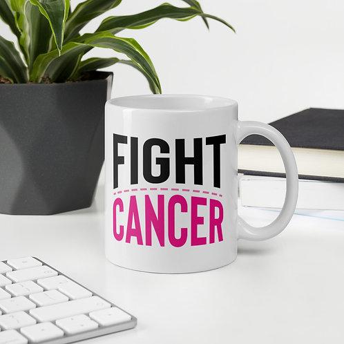 Fight Cancer Bold Pink Ribbon 4HB Vol. 1 Mug