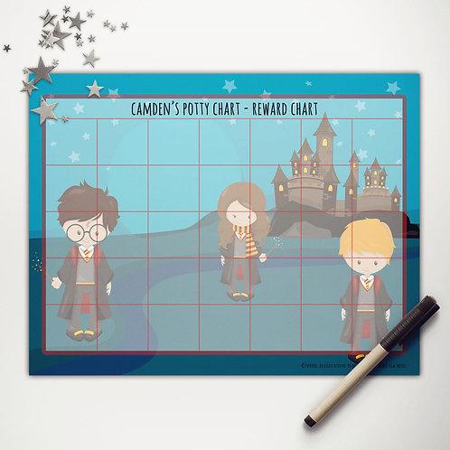 Wizard School Reward Chart (light skin)