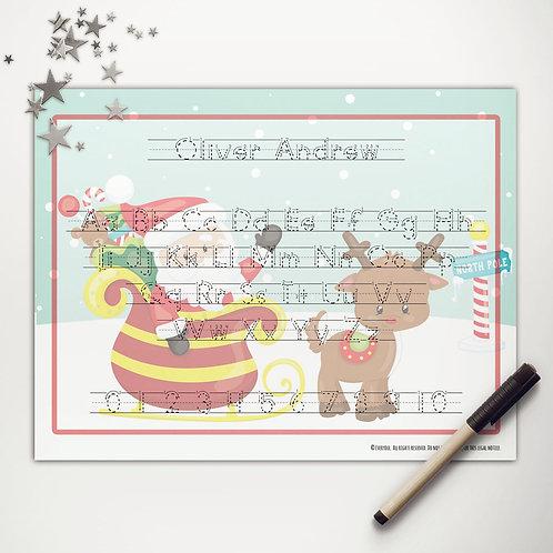 Santa + Rudolph Writing Mat (light skin | print)
