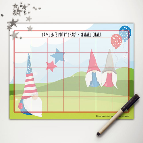 Patriotic Gnomes Basic Reward Chart