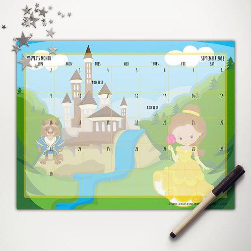 Princess Beauty Monthly Calendar (light skin)
