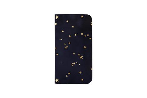 Navy + Gold Stars Folio Wallet Case