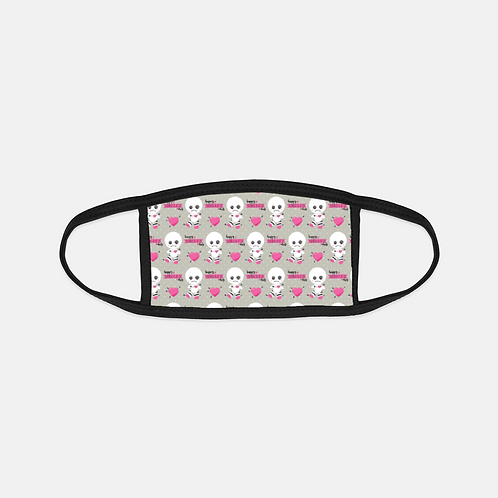 Anti-Valentines VooDoo SIngles Day Black Edge Face Cover