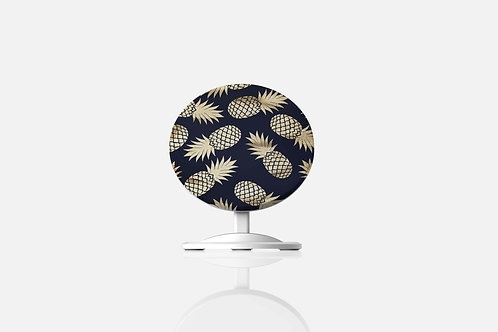 Navy + Gold Pineapples Wireless Charger