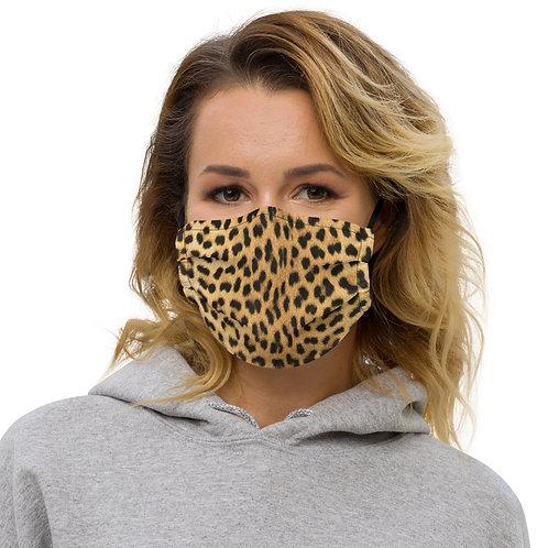 Cheetah Skin Texture Print Premium Face Cover with Pocket