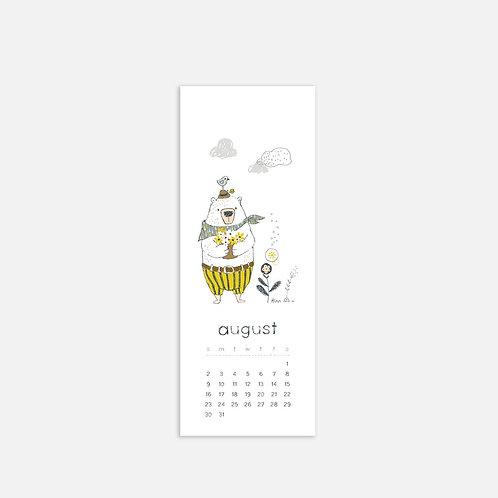 Whimsical Ye. August 2020 Half Sheet Calendar
