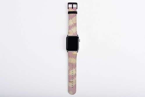 Blush + Gold Pineapple Designer Apple Watch Band