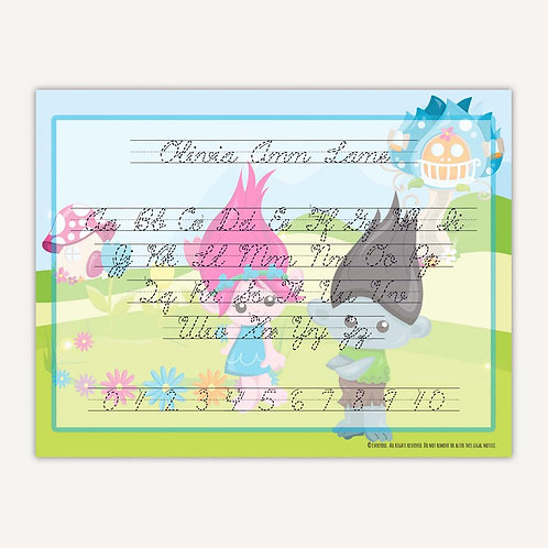 Bright Troll Fun Writing Mat (cursive)