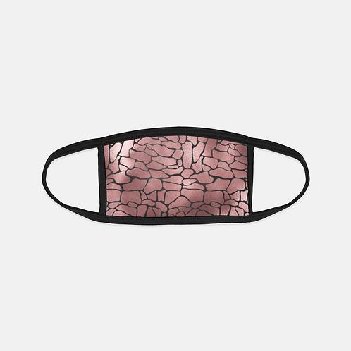 Luxury Safari Pink Reptile Black Edge Face Cover
