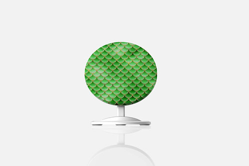 Emerald Gold Mermaid Scales Wireless Charger