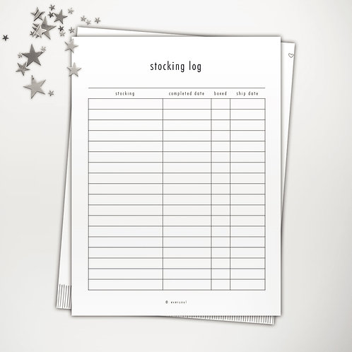 Stocking Log PowerPoint Template