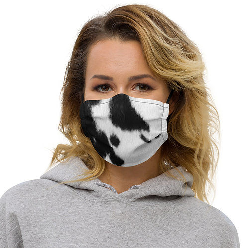 Cow Skin Texture Print Premium Face Cover with Pocket