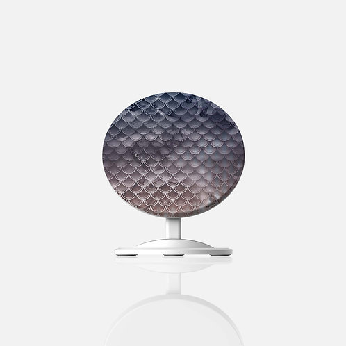 Blush + Navy Storm Mermaid Scales Wireless Charger