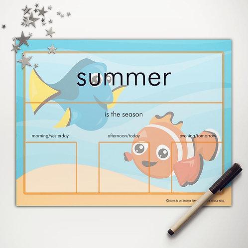 Finding Fish Basic Weather Chart
