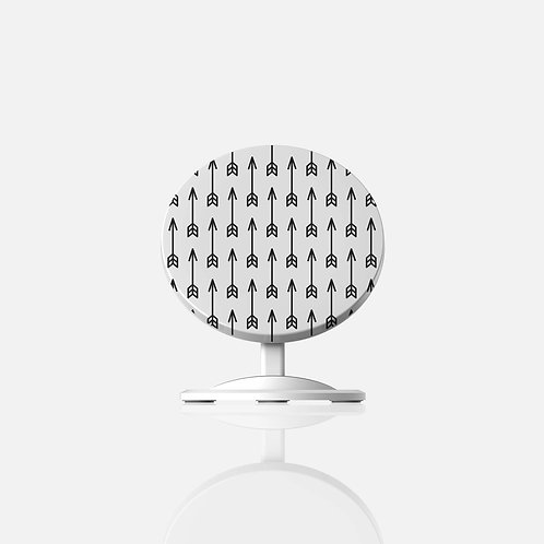 Black + White Arrows Chi Wireless Charger
