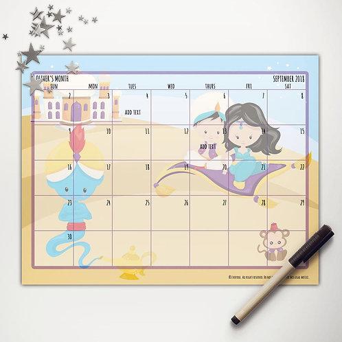 Arabian Palace Friends Monthly Calendar