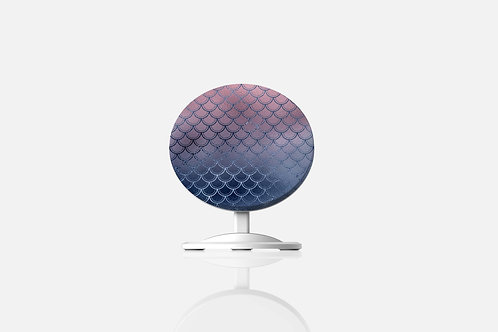 Blush + Navy Magic Mermaid Scales Wireless Charger
