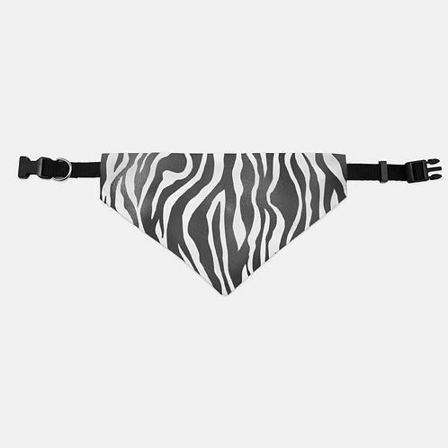 Luxury Safari Zebra Pet Bandana Collar
