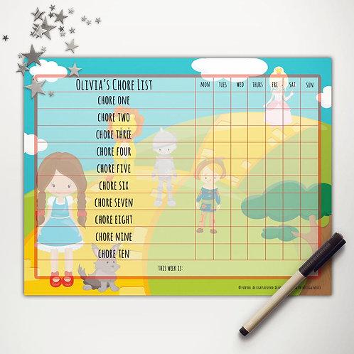 Yellow Brick Road Friends Basic Chore Chart (light skin)