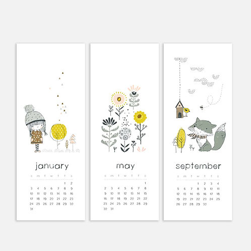 Whimsical Ye. 2021 Half Sheet Calendar