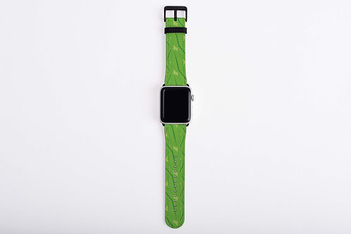 Floral Frogs Leaves Apple Watch Band