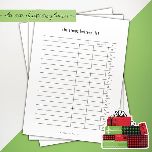 Christmas Planner Classic PowerPoint Template