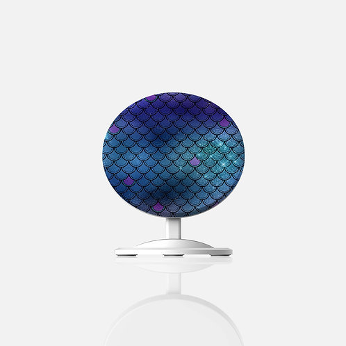 Ocean Glittered Mermaid Scales Wireless Charger