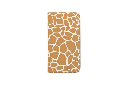 Giraffe Print Folio Wallet Case