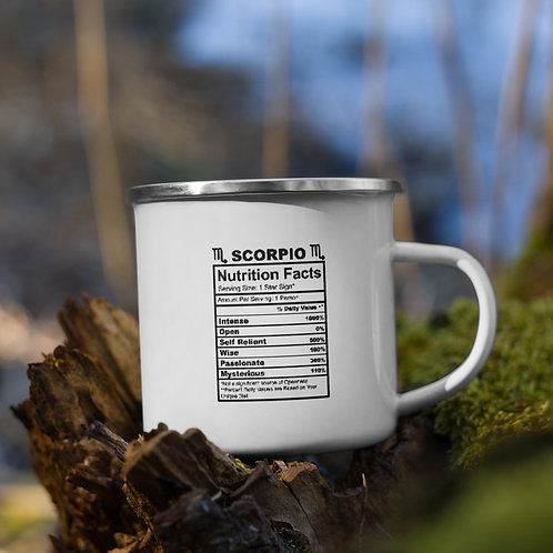 Scorpio Nutrition Facts Zodiac Nutrition Facts Vol. 1 Camp Mug