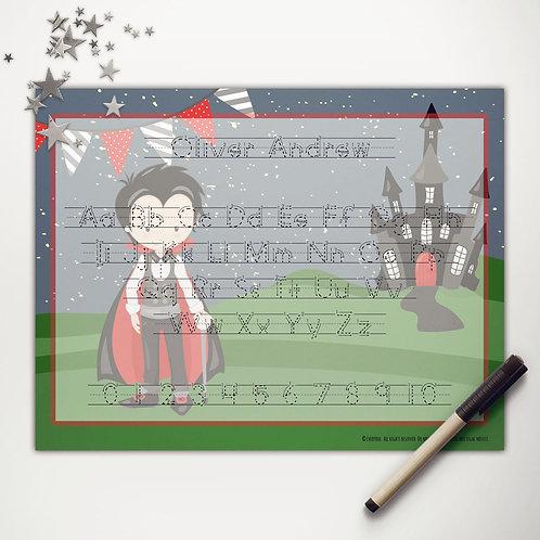 Vampire Boy Writing Mat (print)