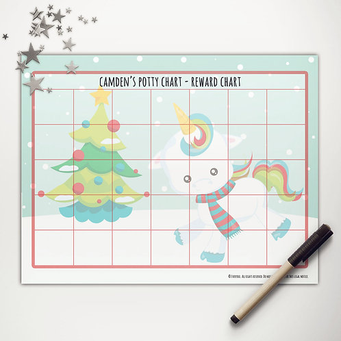 Christmas Unicorn Basic Reward Chart