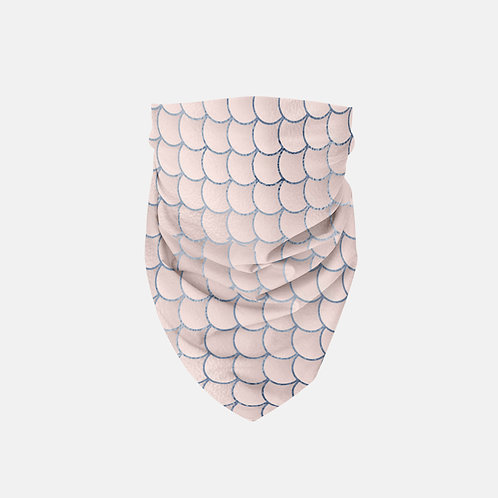Blush + Navy Foiled Mermaid Scales Designer Bandana