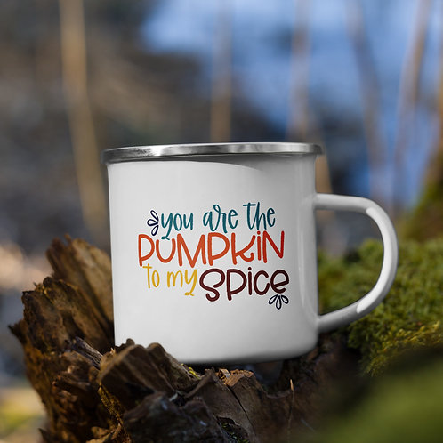 You Are The Pumpkin To My Spice Fall Vol. 5 Enamel Camp Mug