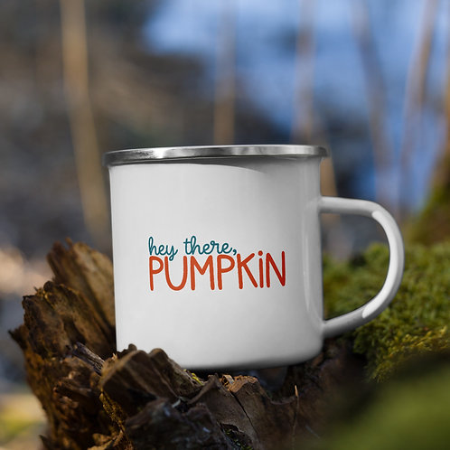 Hey There Pumpkin Fall Vol. 5 Enamel Camp Mug
