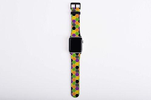 Halloween Reaper Hexagons Apple Watch Band